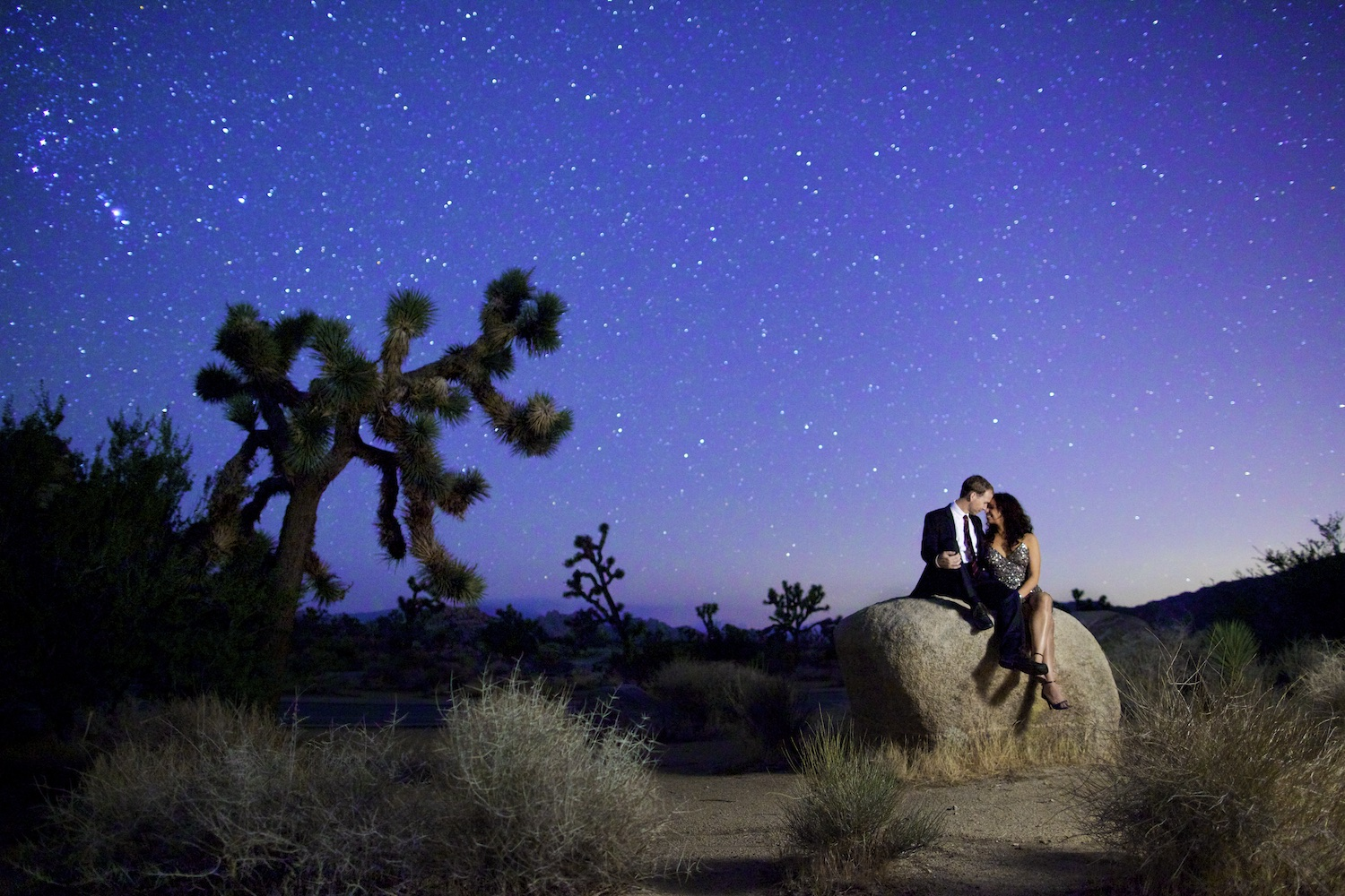 Joshua Tree Astro Photography Engagement Session