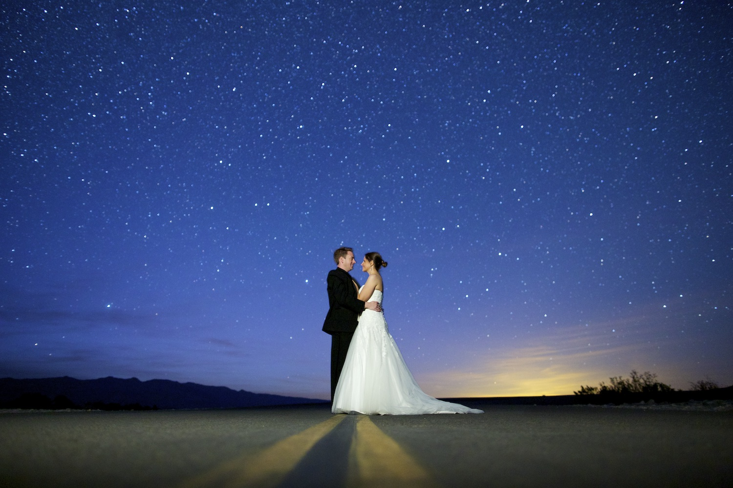 Death Valley Astro Wedding Photography Session
